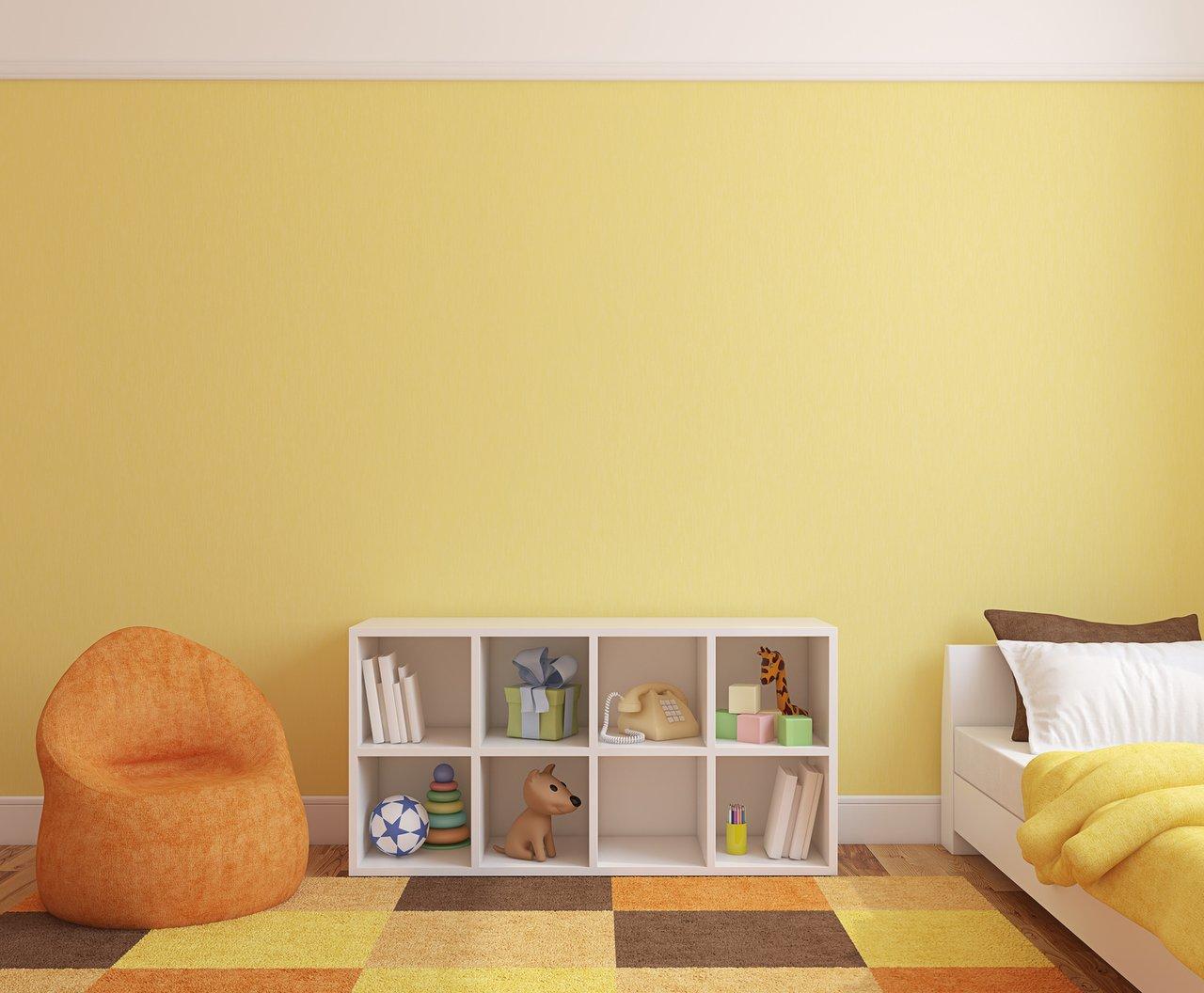 kinderzimmer wandfarbe babyzimmer gestalten babybett ...